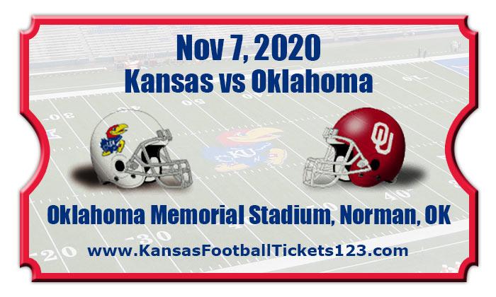 Kansas Jayhawks vs Oklahoma Sooners Football Tickets | 11 ...
